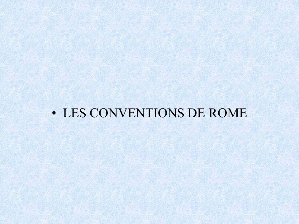 Le système de Rome 1933 –Convention de Rome de 1933 pour l unification de certaines règles relatives aux dommages causés aux tiers a la surface –Protocole additionnel de Bruxelles du 30 septembre 1938