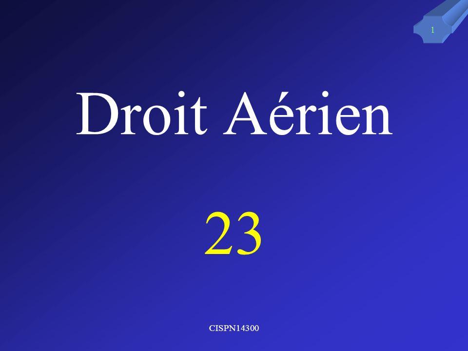 CISPN14300 1 Droit Aérien 23