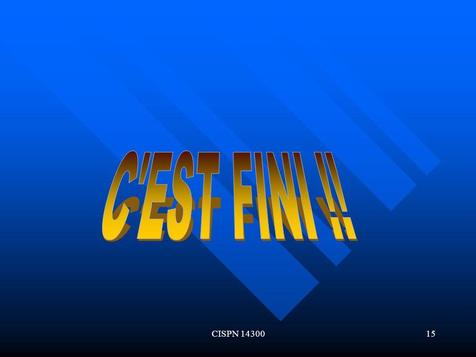 CISPN 1430015