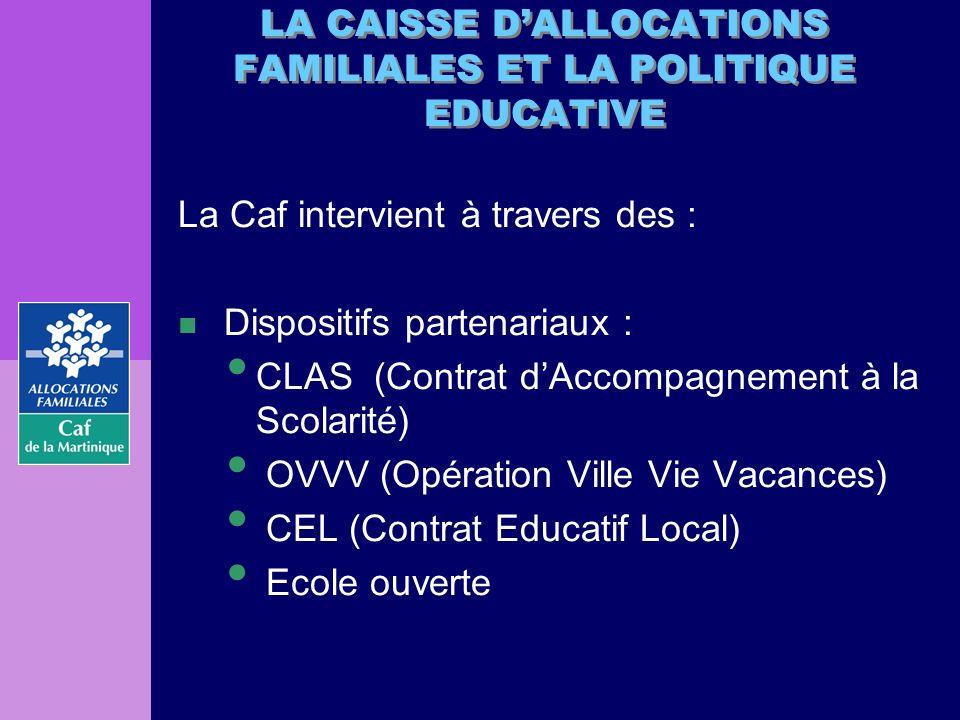 n La Caf est membre du Comité Départemental de Pilotage de chacun des dispositifs.