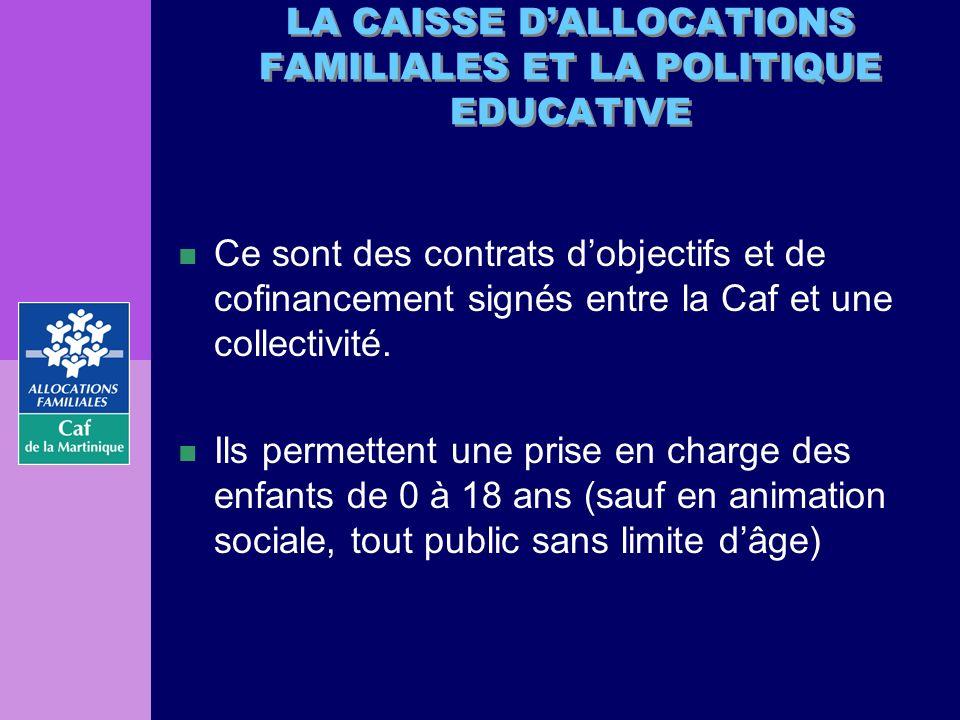 n Ce sont des contrats dobjectifs et de cofinancement signés entre la Caf et une collectivité. n Ils permettent une prise en charge des enfants de 0 à