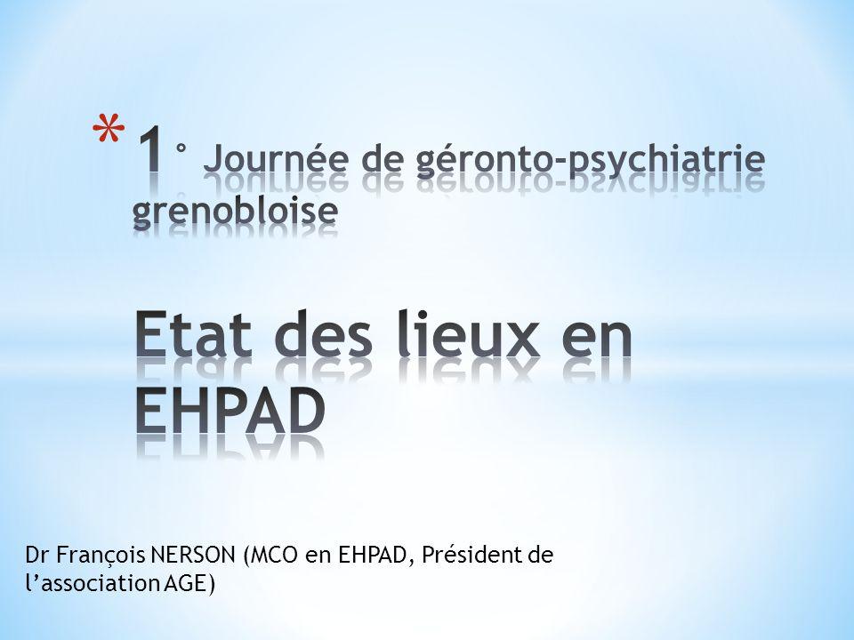 * Seuls 36% des EHPAD en convention avec CMP * PEC marginale des CMP * Difficulté de travailler avec les psychiatres libéraux * Tout doit-il être PEC par le secteur psychiatrique .