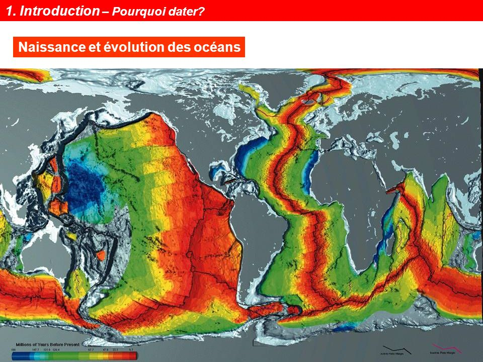 Notions de géochronologie7 Naissance et évolution des océans 1. Introduction – Pourquoi dater?