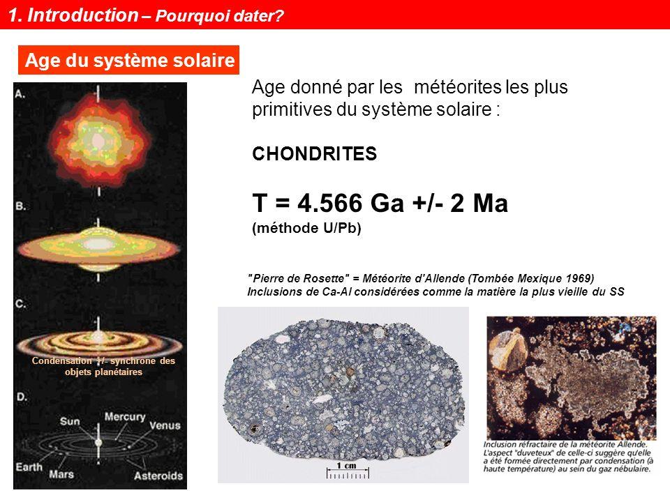 Notions de géochronologie5 Age et évolution des continents 1. Introduction – Pourquoi dater?