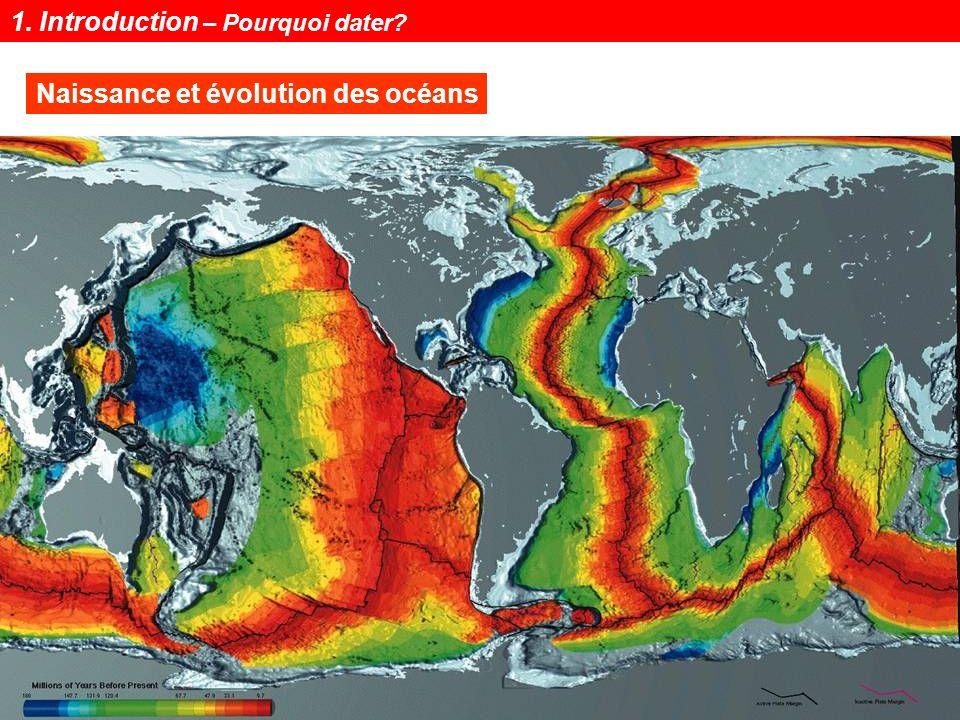Notions de géochronologie8 Datation des phases orogéniques Massif Central : magmatisme Hercynien Datation du Plutonisme Détail Carte au 1/1000000 1.