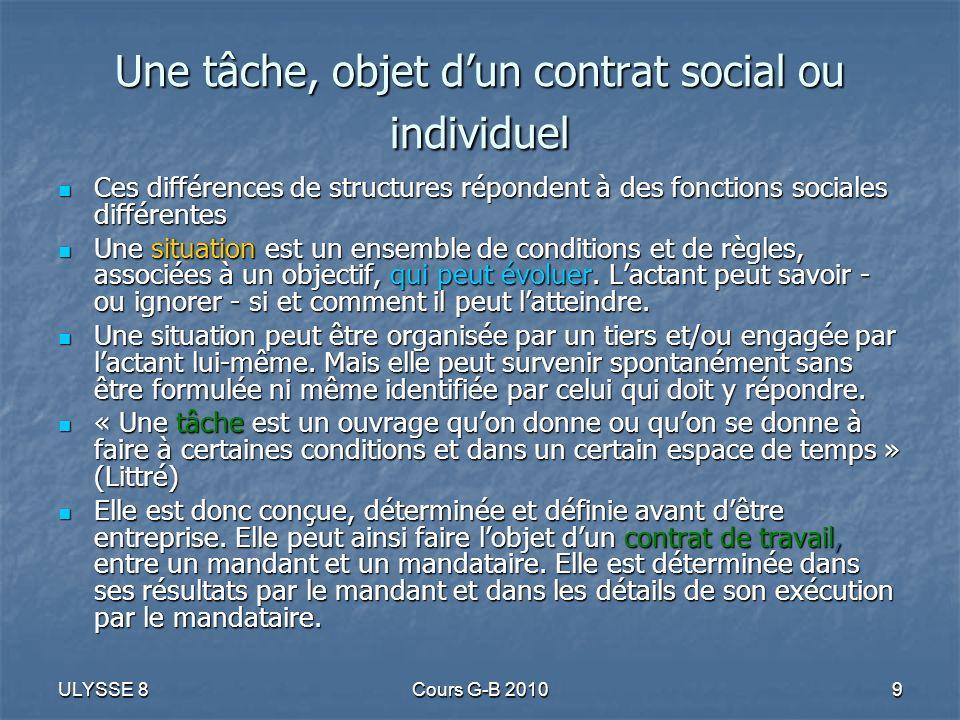 ULYSSE 8Cours G-B 20109 Ces différences de structures répondent à des fonctions sociales différentes Ces différences de structures répondent à des fon