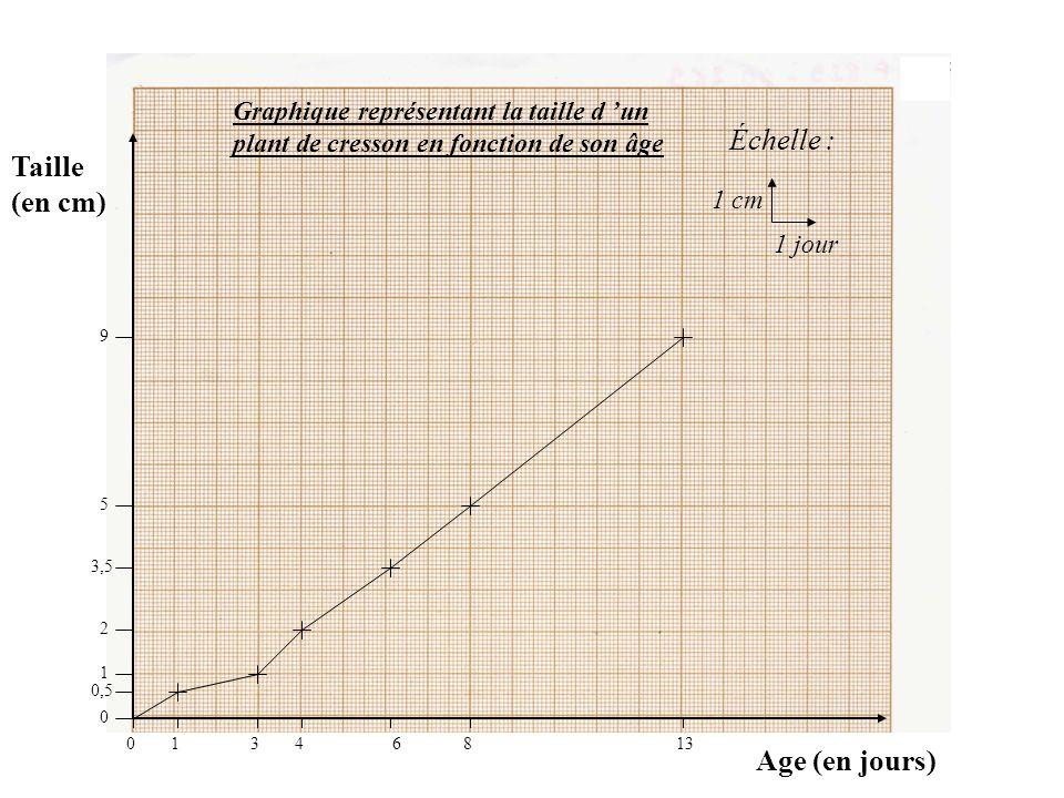 J indique le titre du graphique et je le souligne (en utilisant toujours mon crayon de bois)