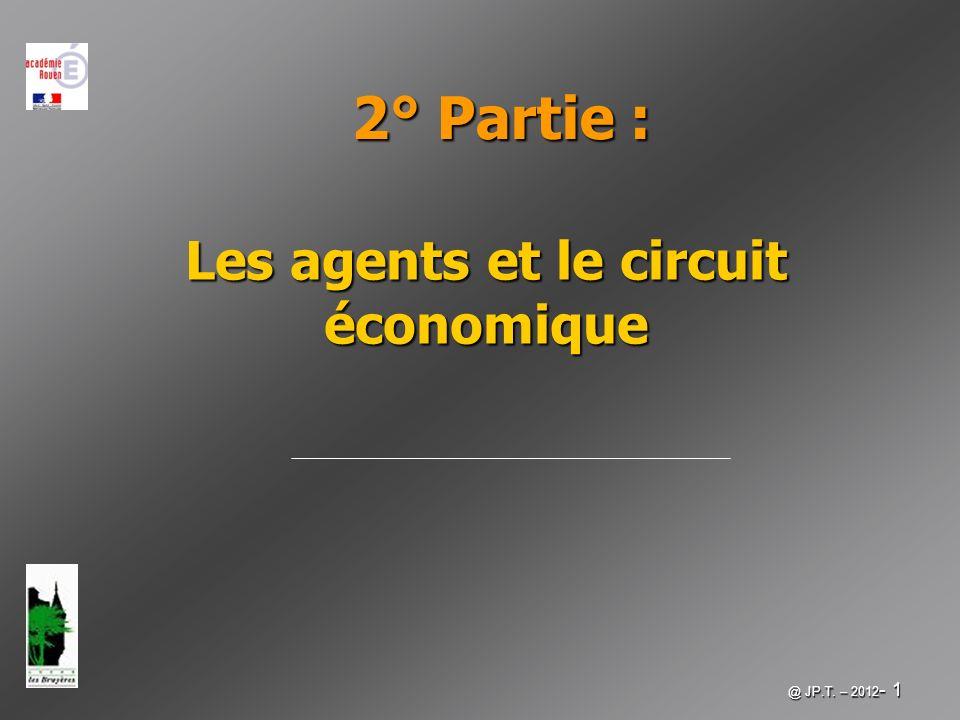@ JP.T. – 2012 - 1 Les agents et le circuit économique 2° Partie :