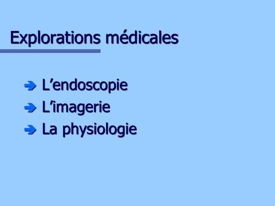 Lendoscopie Rappel: Lendoscopie: Exploration visuelle de lintérieur dune cavité ou dun conduit de lorganisme, à laide dun endoscope.