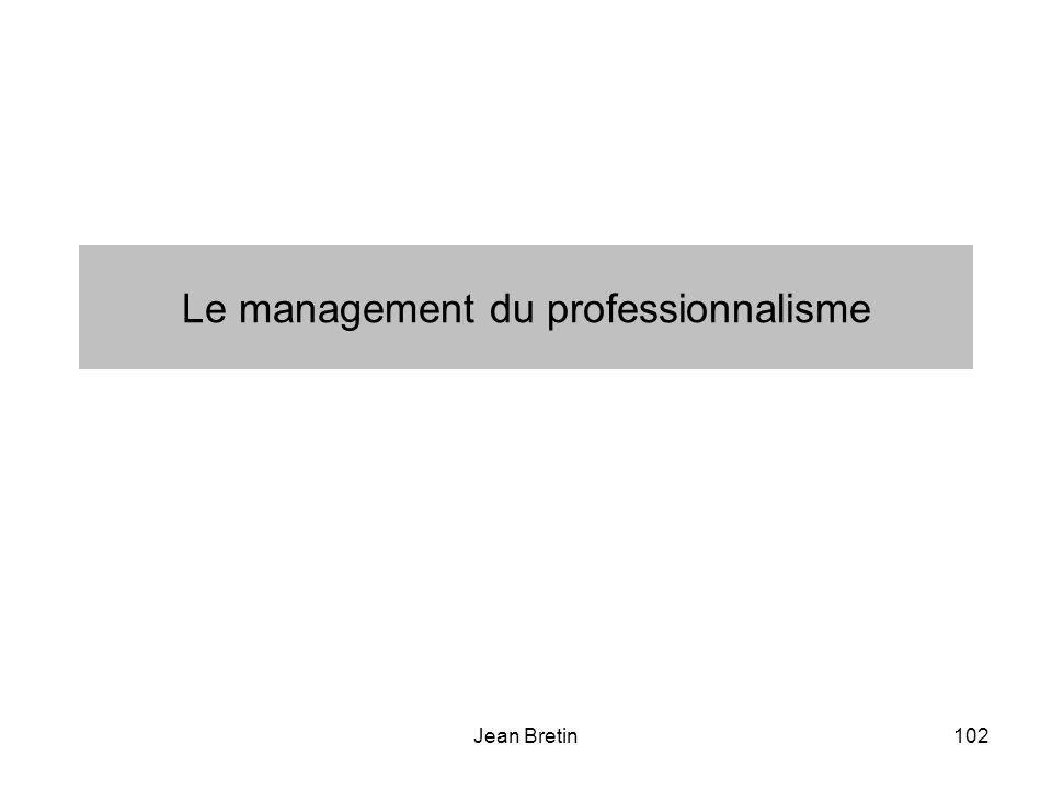 Jean Bretin102 Le management du professionnalisme