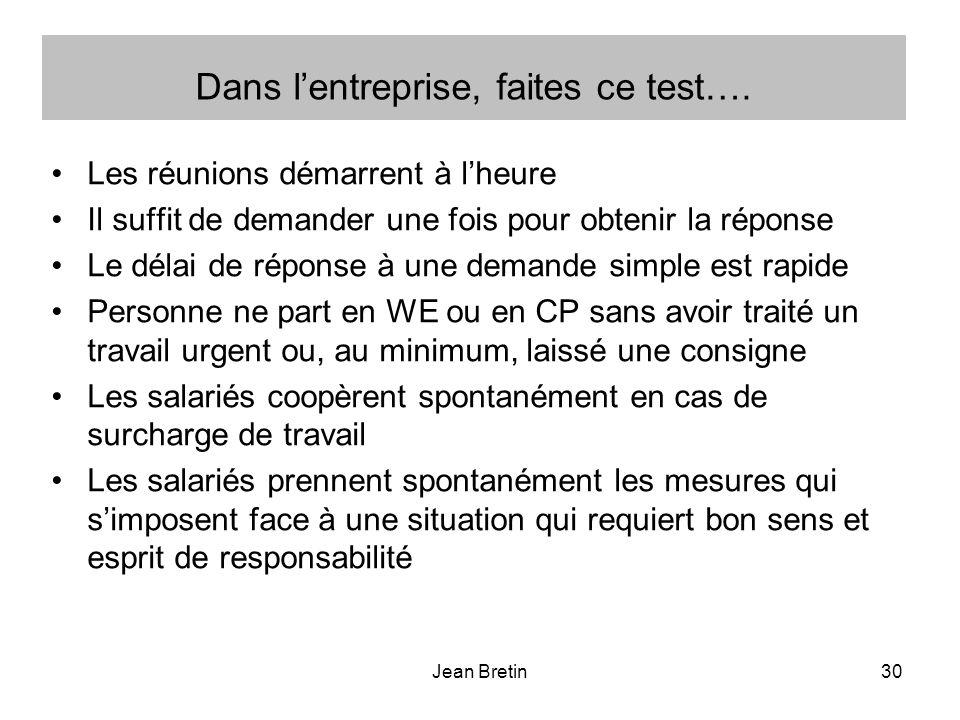 Jean Bretin30 Dans lentreprise, faites ce test….