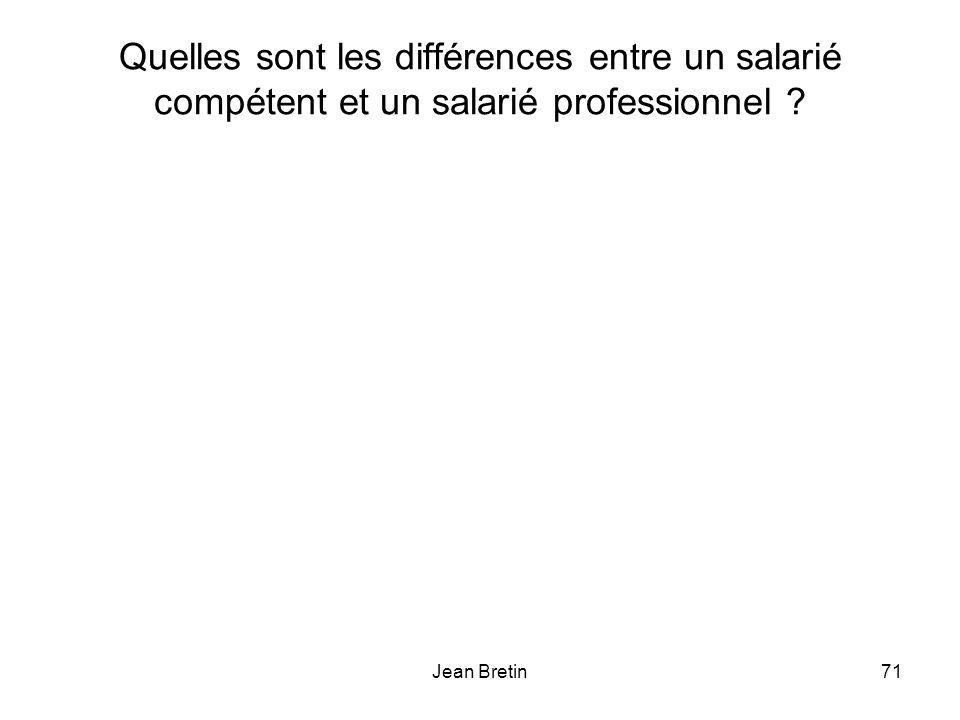 Jean Bretin71 Quelles sont les différences entre un salarié compétent et un salarié professionnel ?