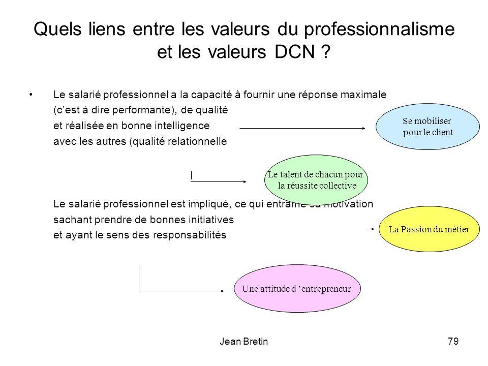 Jean Bretin79 Quels liens entre les valeurs du professionnalisme et les valeurs DCN .