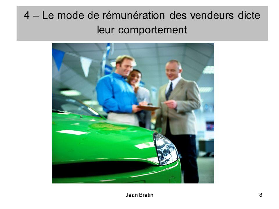 Jean Bretin8 4 – Le mode de rémunération des vendeurs dicte leur comportement