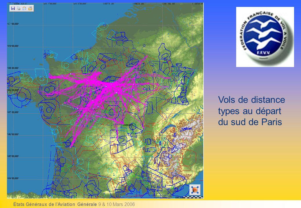 États Généraux de lAviation Générale 9 & 10 Mars 2006 Vols de distance types au départ du sud de Paris