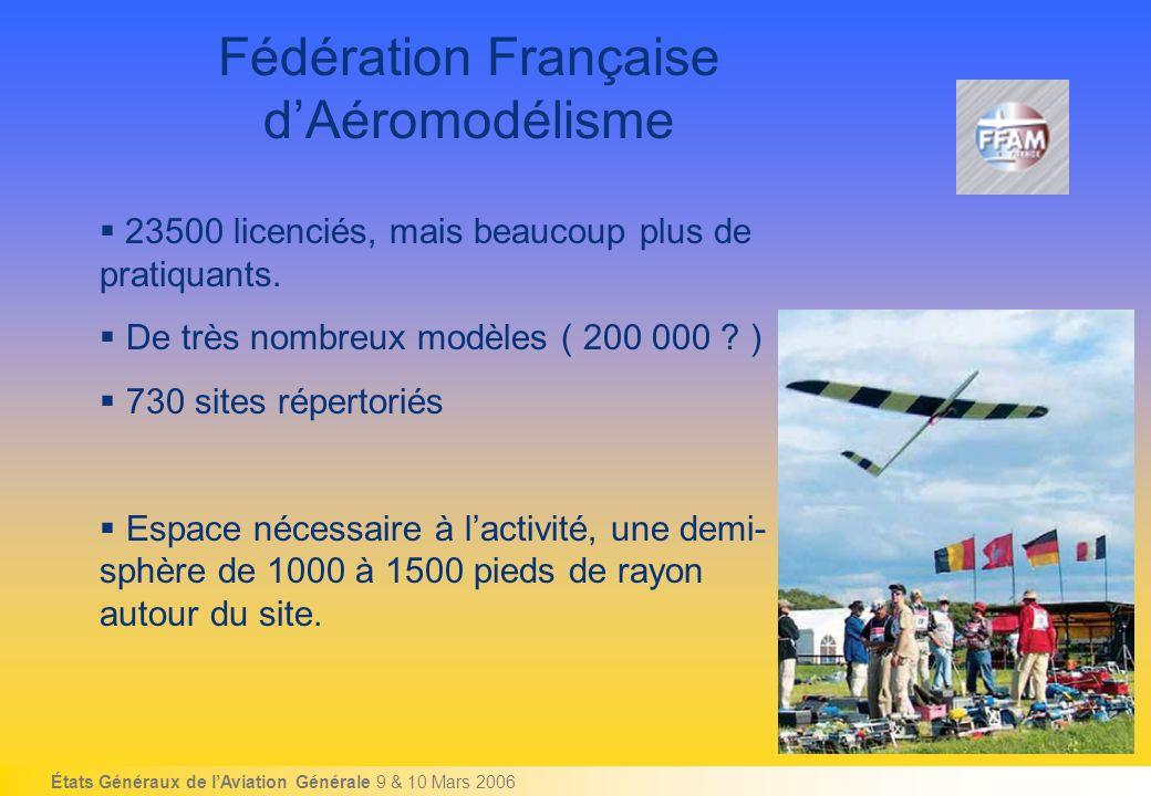États Généraux de lAviation Générale 9 & 10 Mars 2006 Fédération Française dAéromodélisme 23500 licenciés, mais beaucoup plus de pratiquants.