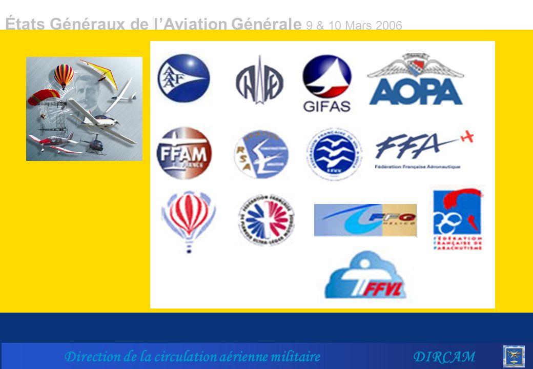 États Généraux de lAviation Générale 9 & 10 Mars 2006 Direction de la circulation aérienne militaire DIRCAM