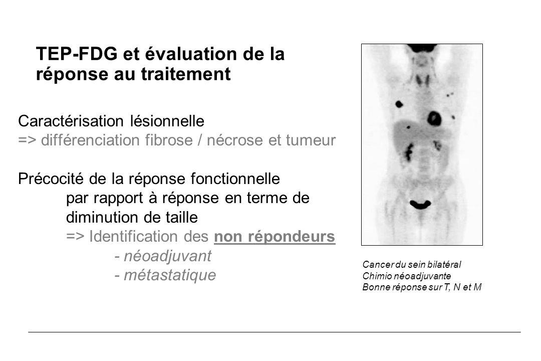 Caractérisation lésionnelle => différenciation fibrose / nécrose et tumeur Précocité de la réponse fonctionnelle par rapport à réponse en terme de dim