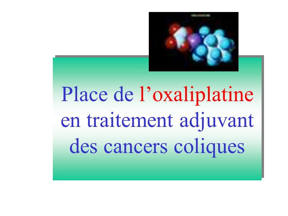 Place de loxaliplatine en traitement adjuvant des cancers coliques Place de loxaliplatine en traitement adjuvant des cancers coliques