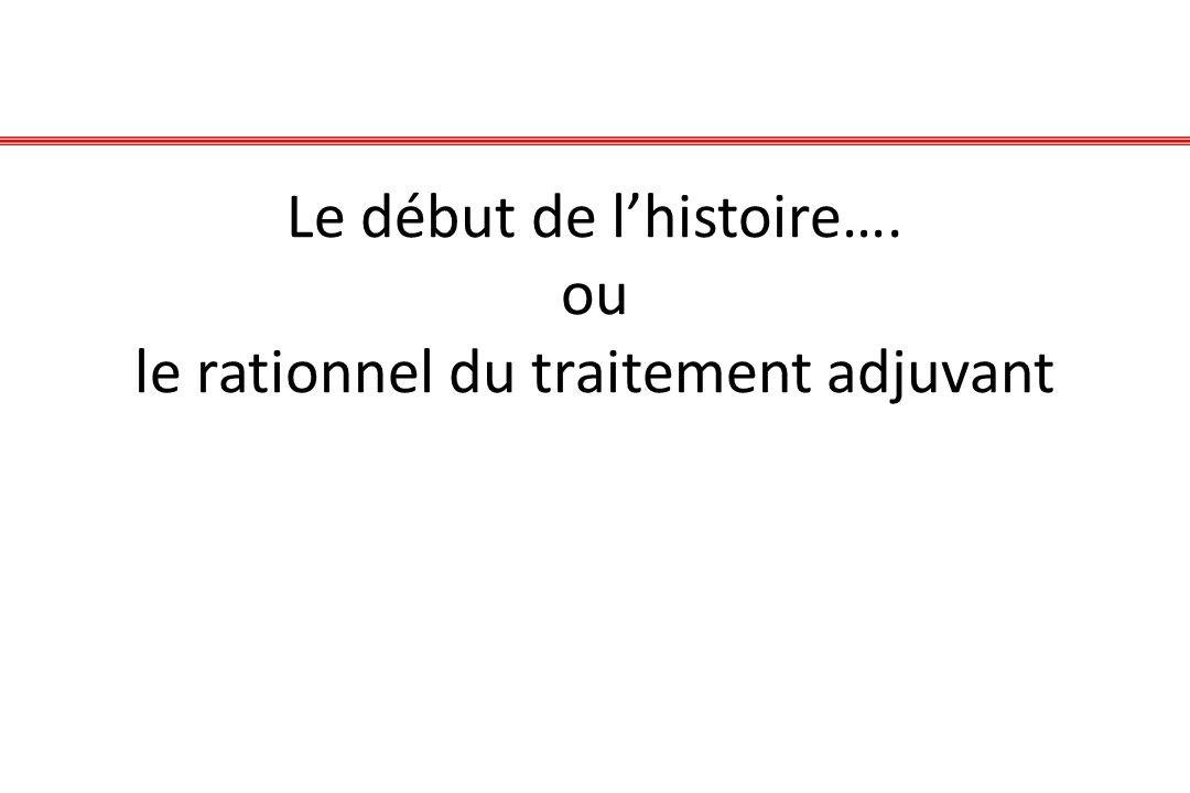 Le début de lhistoire…. ou le rationnel du traitement adjuvant