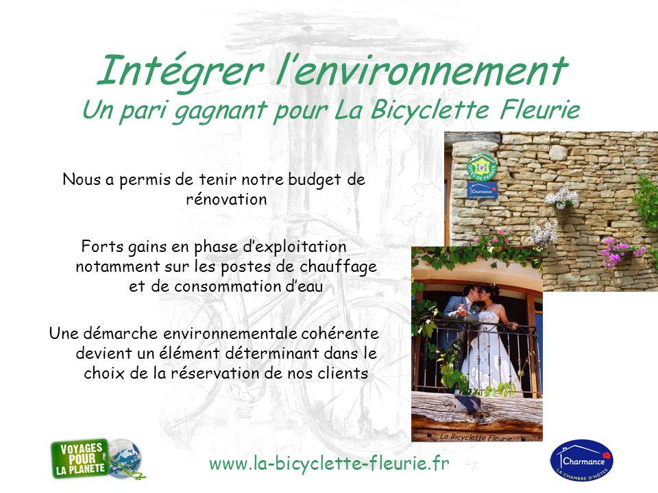 www.la-bicyclette-fleurie.fr « On nhérite pas de la terre de ses parents, on lemprunte à ses enfants » Antoine DE ST EXUPERY