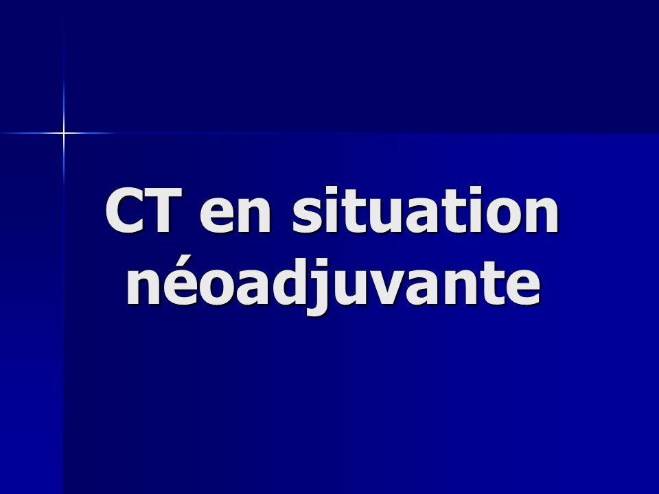 Un postulat maintenant démontré: RCT > RT seule Problèmes actuels: Quelle CT .
