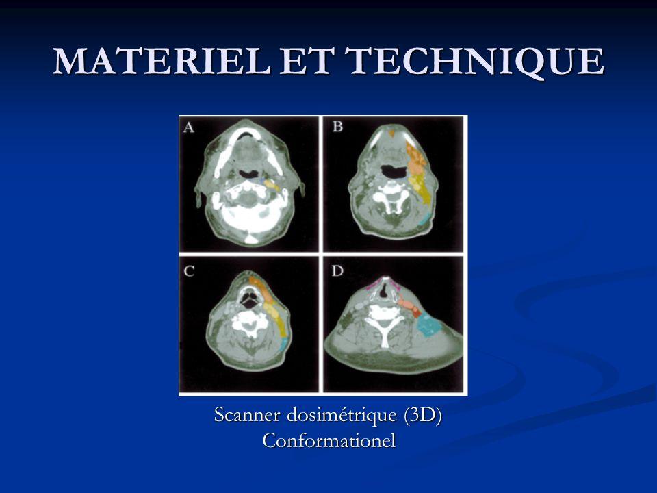 MATERIEL ET TECHNIQUE Scanner dosimétrique (3D) Conformationel