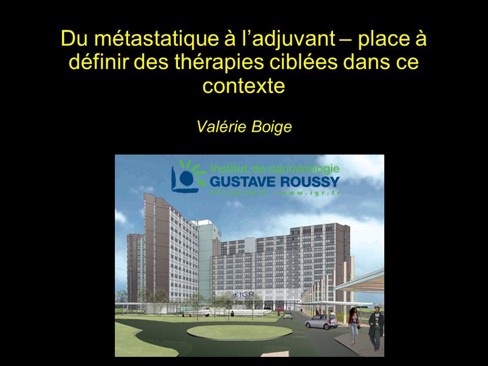 Du métastatique à ladjuvant – place à définir des thérapies ciblées dans ce contexte Valérie Boige