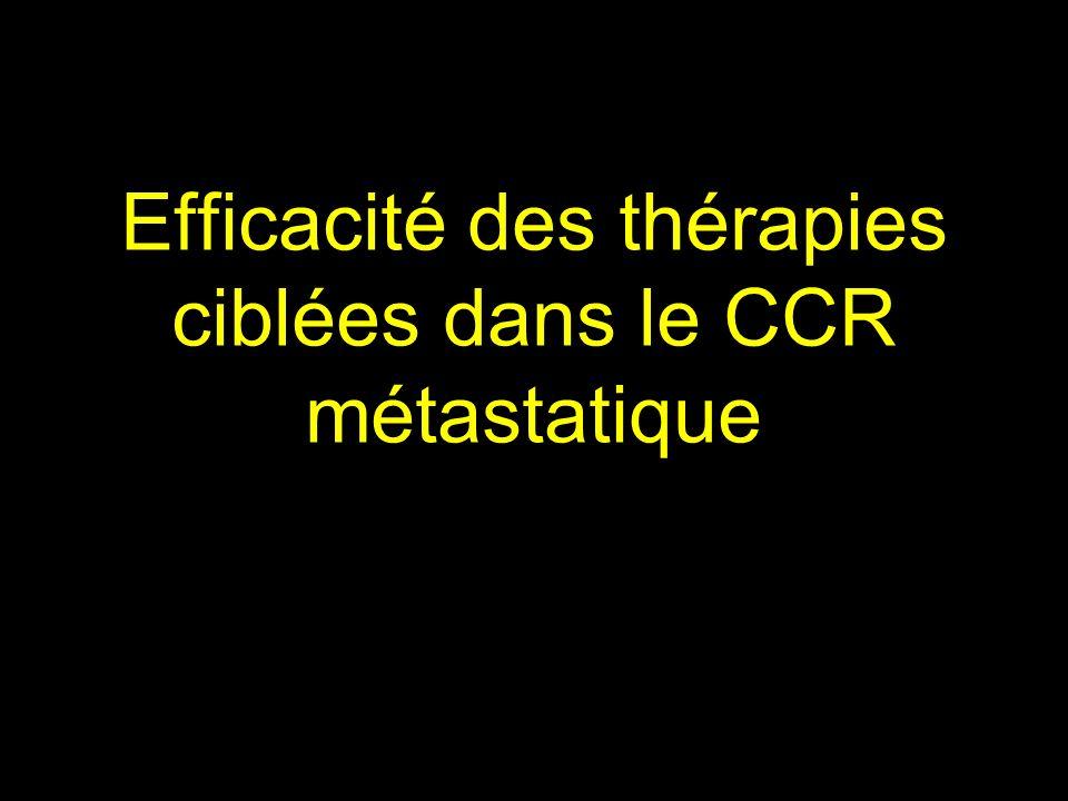Les thérapies ciblées améliorent-elles la réponse au traitement de 3 e ligne .