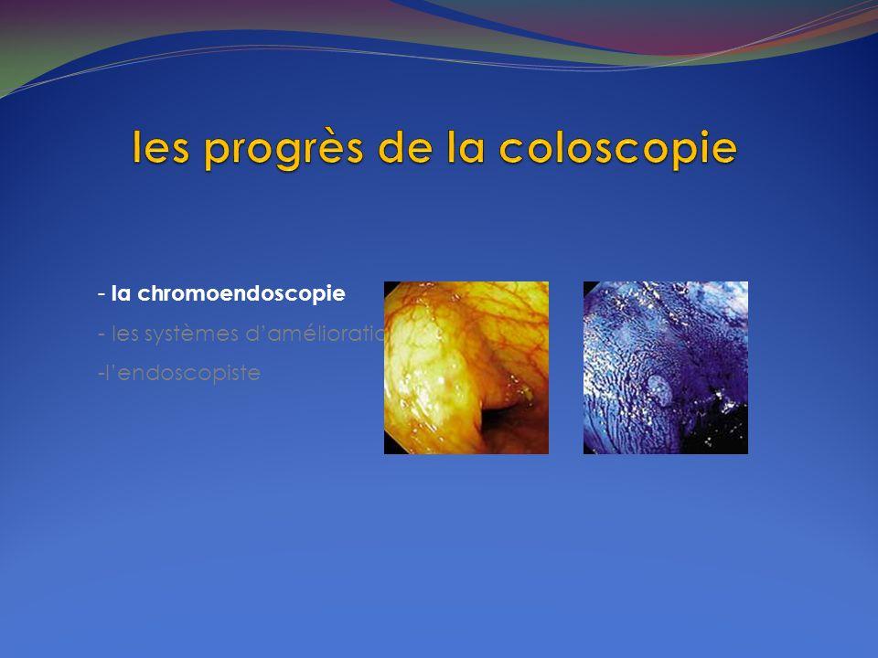 - la chromoendoscopie - les systèmes damélioration de limage -lendoscopiste