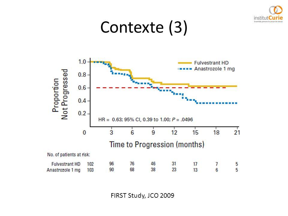 Contexte (3) FIRST Study, JCO 2009