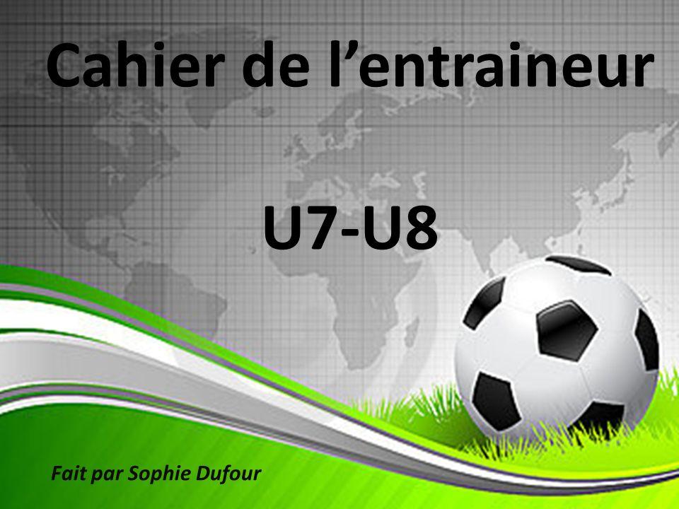 Cahier de lentraineur U7-U8 Fait par Sophie Dufour