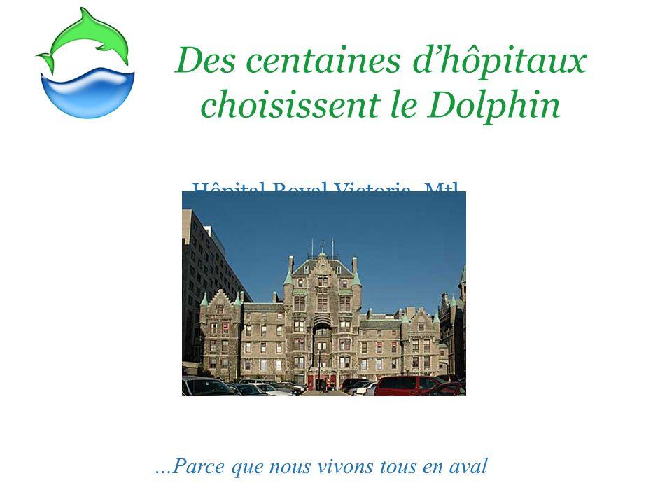 Des centaines dhôpitaux choisissent le Dolphin Hôpital Royal Victoria, Mtl …Parce que nous vivons tous en aval
