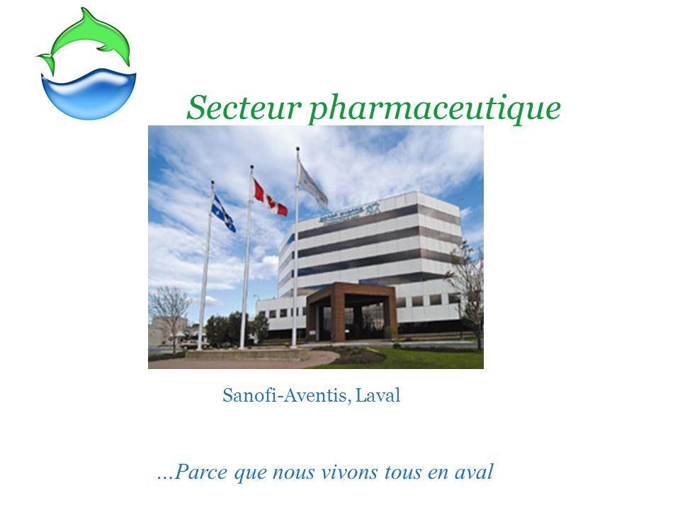Secteur pharmaceutique Sanofi-Aventis, Laval …Parce que nous vivons tous en aval