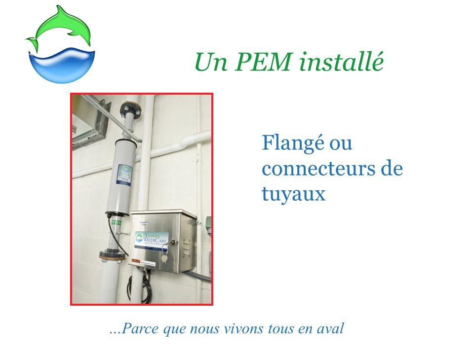 Un PEM installé Flangé ou connecteurs de tuyaux …Parce que nous vivons tous en aval