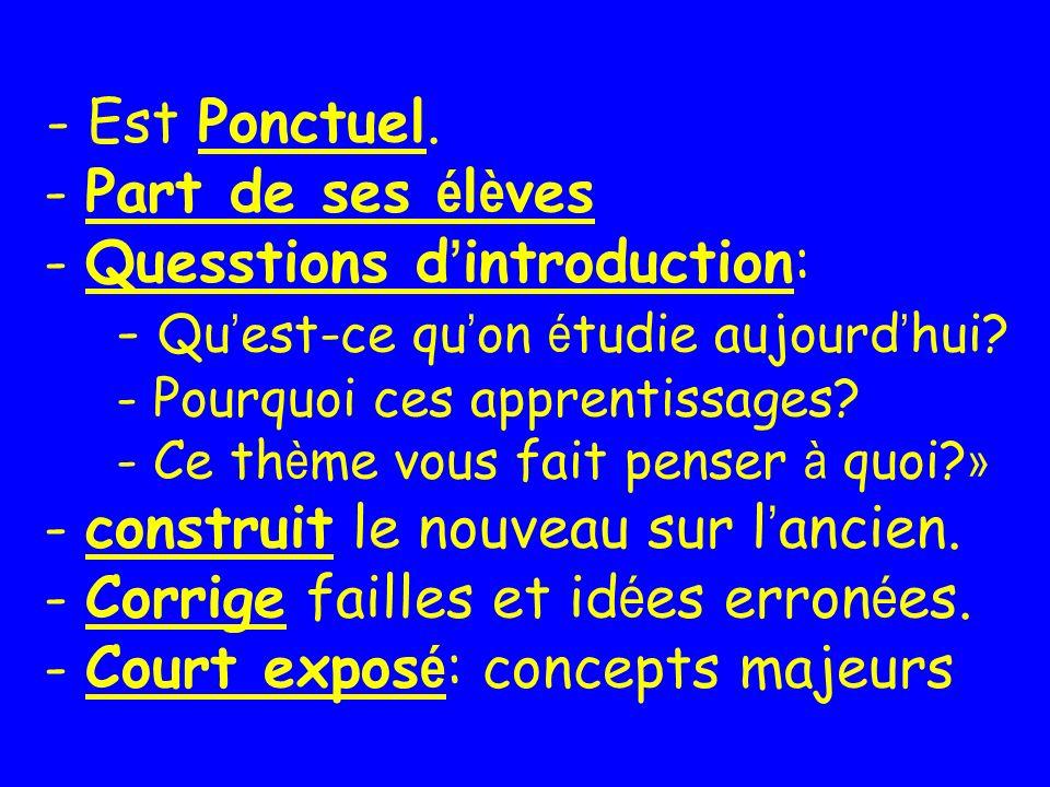 - Est Ponctuel.