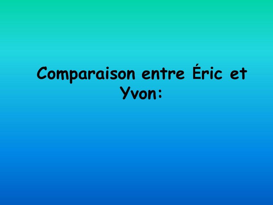 Comparaison entre É ric et Yvon:
