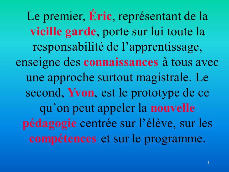 5 Article de Denise Barbeau « La classe : un miroir du professeur et de son enseignement » In Actes du vingt et uni è me colloque annuel de l AQPC (2002) P.61-66)