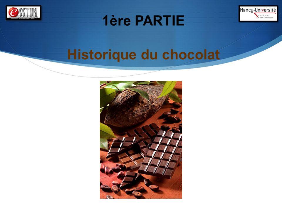1ère PARTIE Historique du chocolat