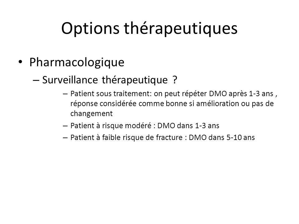 Options thérapeutiques Pharmacologique – Surveillance thérapeutique .