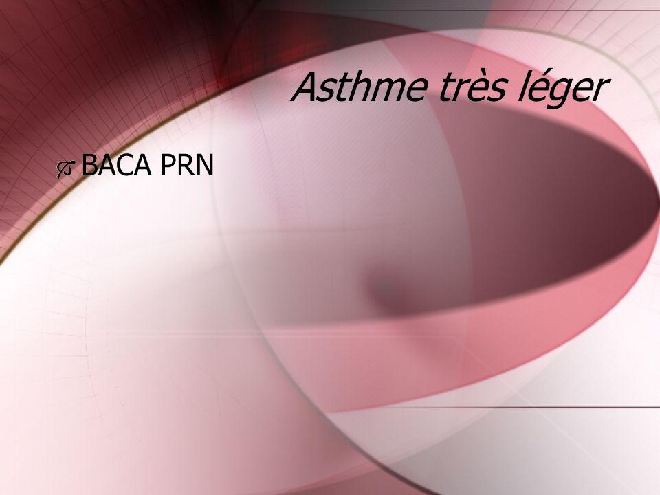 Asthme très léger BACA PRN