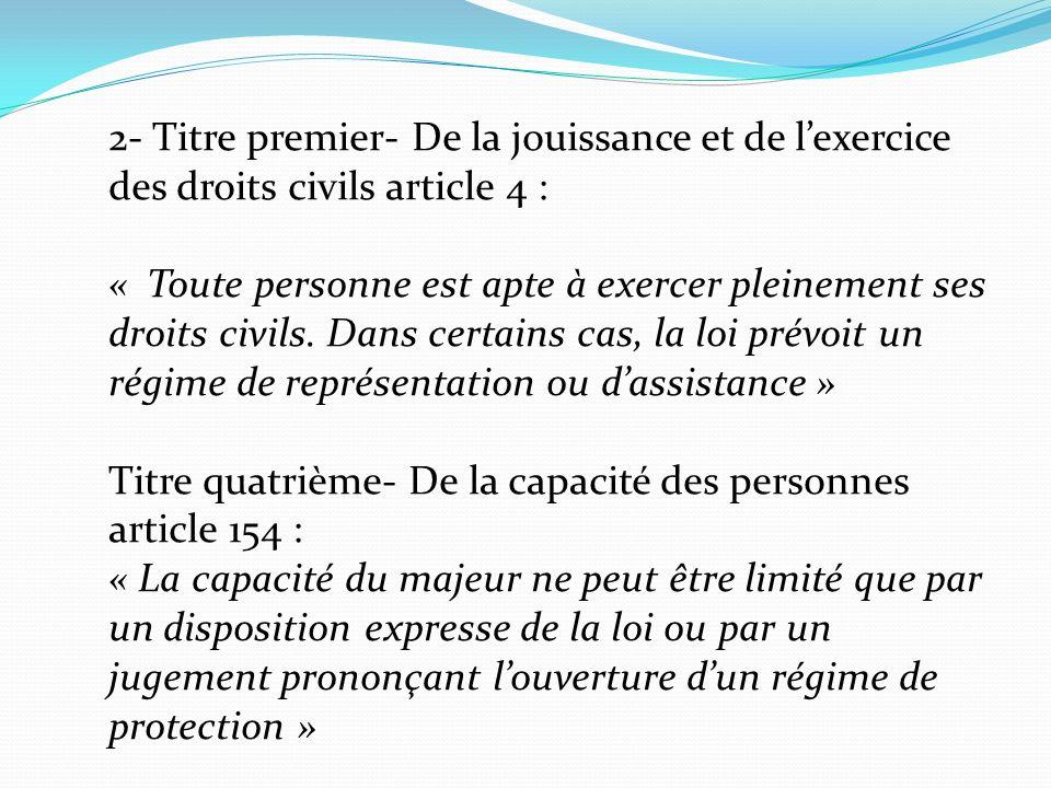3- Choc entre 2 valeurs i)Droit au respect de son autonomie ii)Droit à la protection, à lintégrité, à la santé 4- Il existe un biais favorable à lautonomie dans notre société.