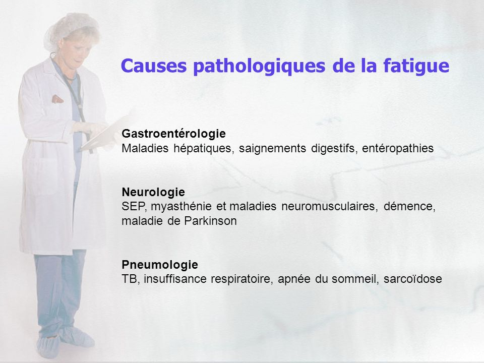 Gastroentérologie Maladies hépatiques, saignements digestifs, entéropathies Neurologie SEP, myasthénie et maladies neuromusculaires, démence, maladie