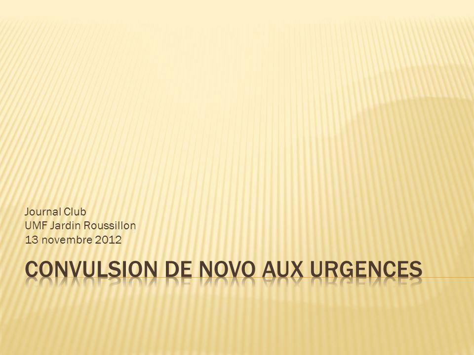 Journal Club UMF Jardin Roussillon 13 novembre 2012