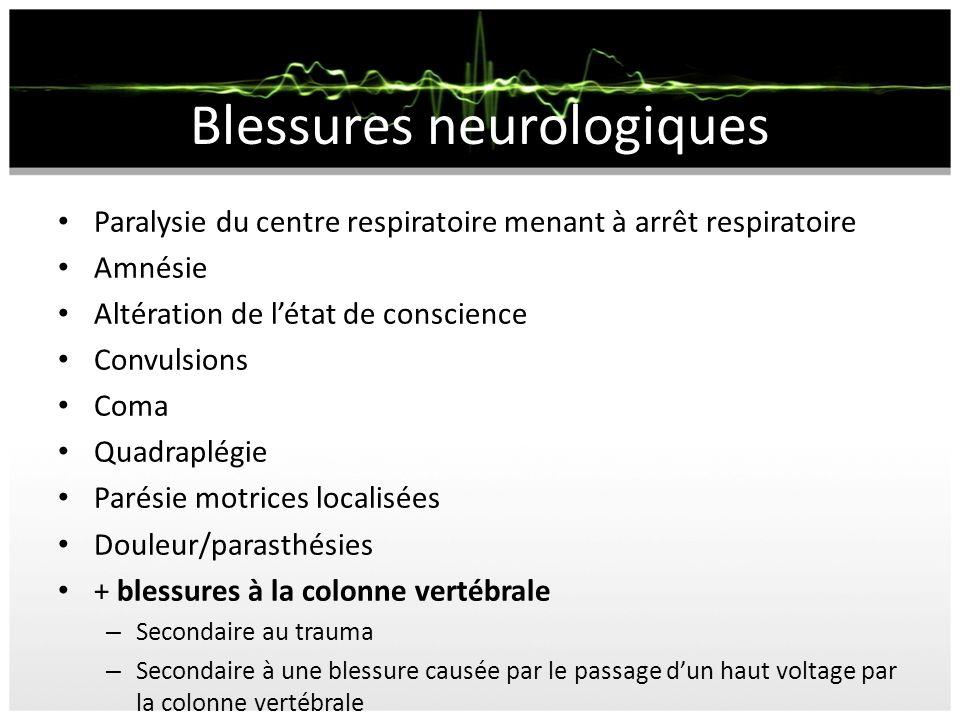 Blessure Neurologique Effets tardifs sur le système nerveux central: – Paralysie ascendante – Myélite transverse – Sclérose amyotrophique latérale – Symptômes neuropsychiâtriques