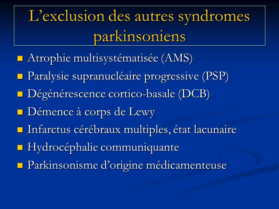 Atrophie multisystématisée (AMS) Atrophie multisystématisée (AMS) Paralysie supranucléaire progressive (PSP) Paralysie supranucléaire progressive (PSP