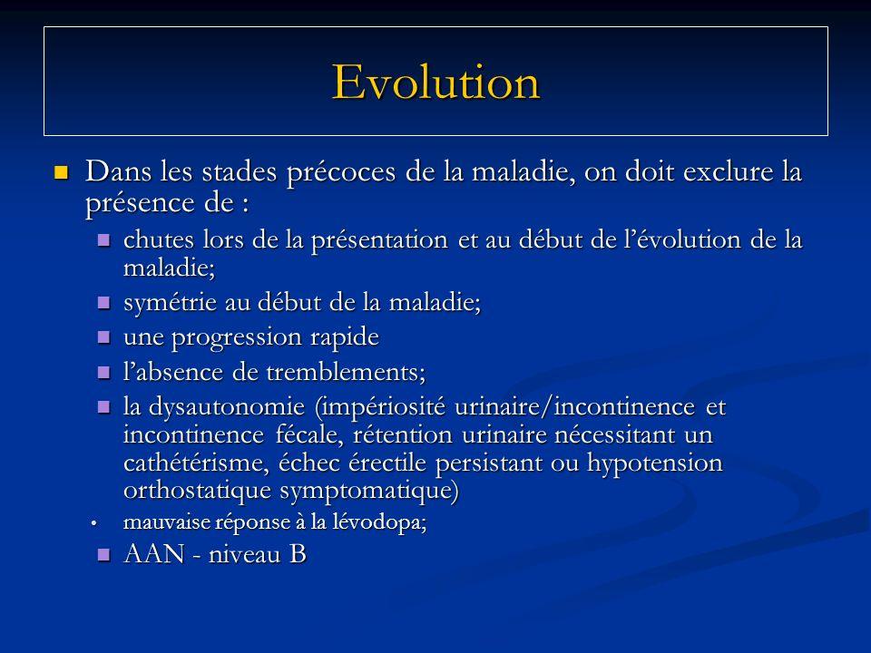 Dans les stades précoces de la maladie, on doit exclure la présence de : Dans les stades précoces de la maladie, on doit exclure la présence de : chut