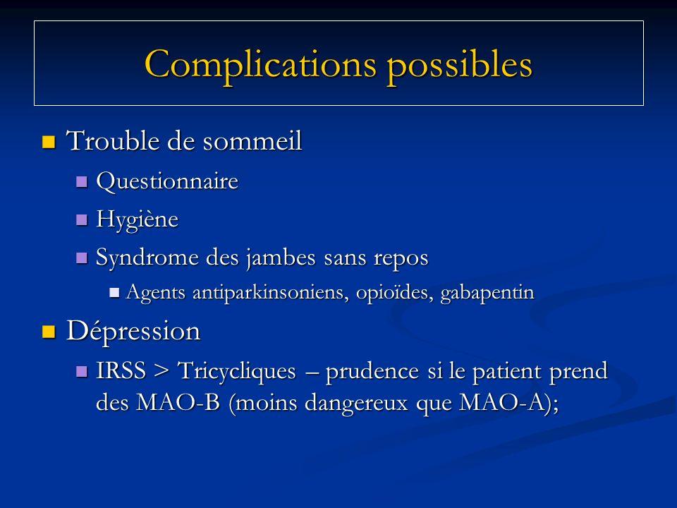 Trouble de sommeil Trouble de sommeil Questionnaire Questionnaire Hygiène Hygiène Syndrome des jambes sans repos Syndrome des jambes sans repos Agents