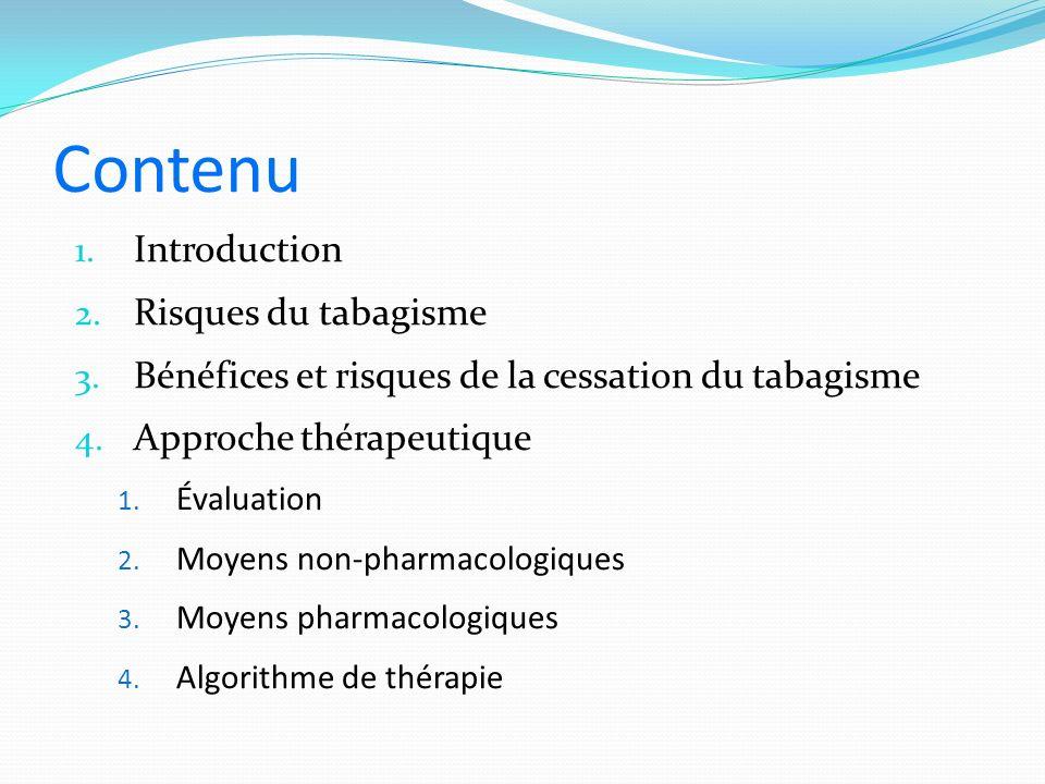 Contenu 1.Introduction 2. Risques du tabagisme 3.
