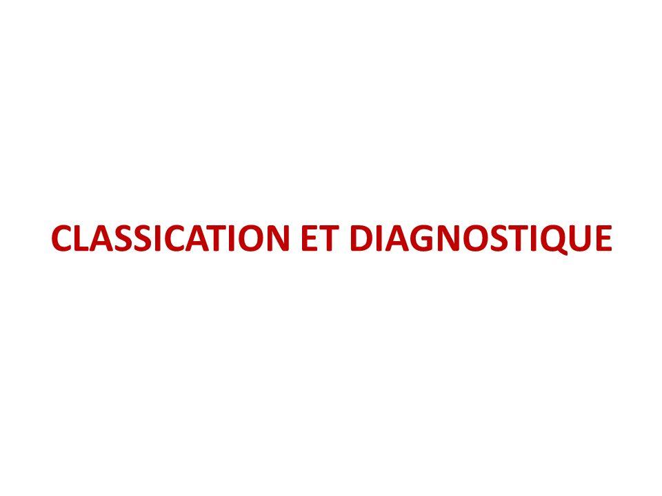 CLASSICATION ET DIAGNOSTIQUE